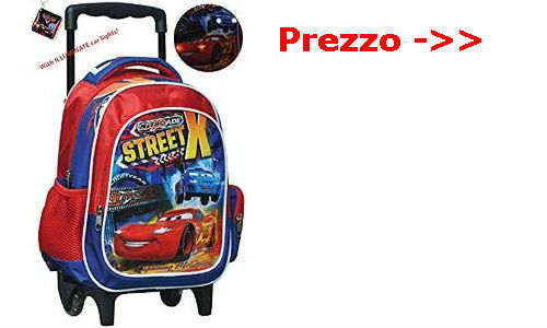 Zaino Disney Cars con trolley